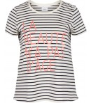 ZIZZI - STRIBET T-SHIRT