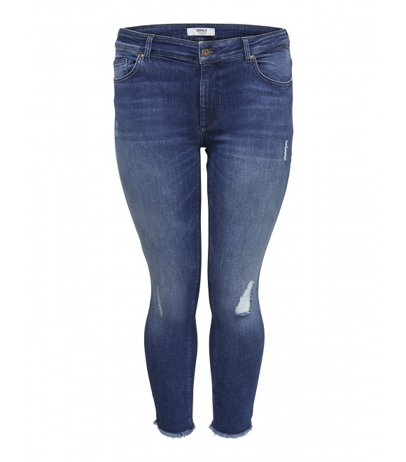 Only Carmakoma - CROPPED JEANS M/ HULLER