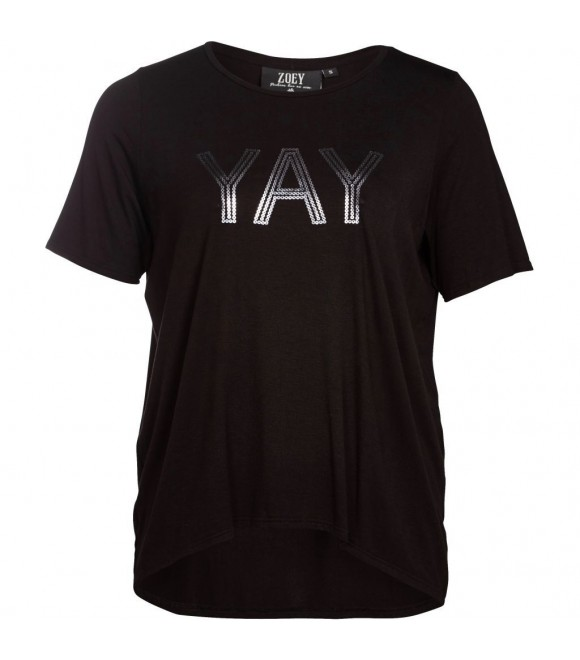 ZOEY - T-SHIRT M/TRYK YAY