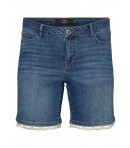 JUNAROSE - DENIM SHORTS M/BRODERI